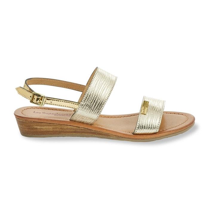 Sandales cuir balta  or Les Tropeziennes Par M Belarbi  La Redoute