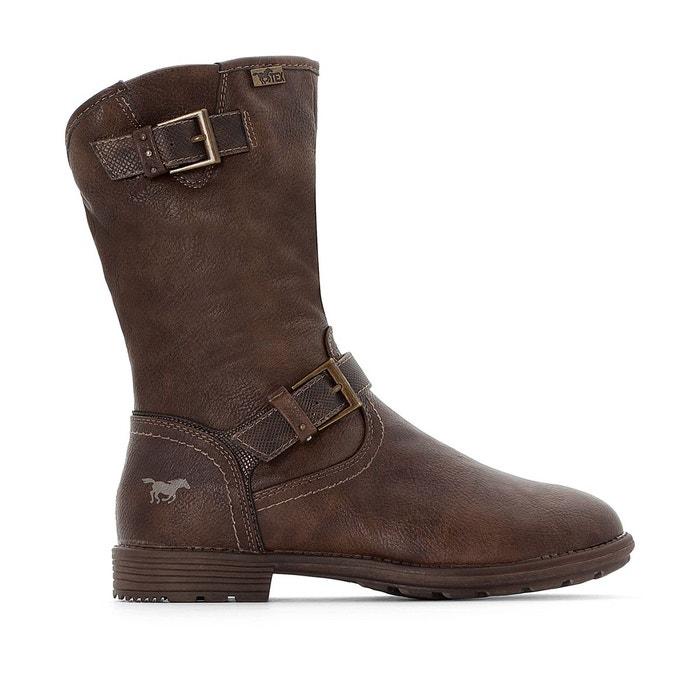 Boots motardes   marron foncé Mustang Shoes   La Redoute