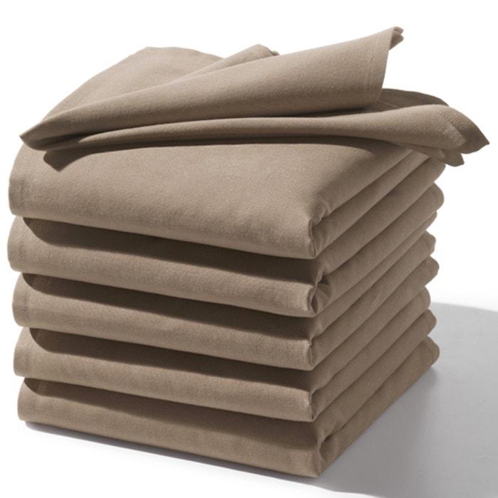 Image Serviettes de table unies, pur coton, (lot de 6) SCENARIO