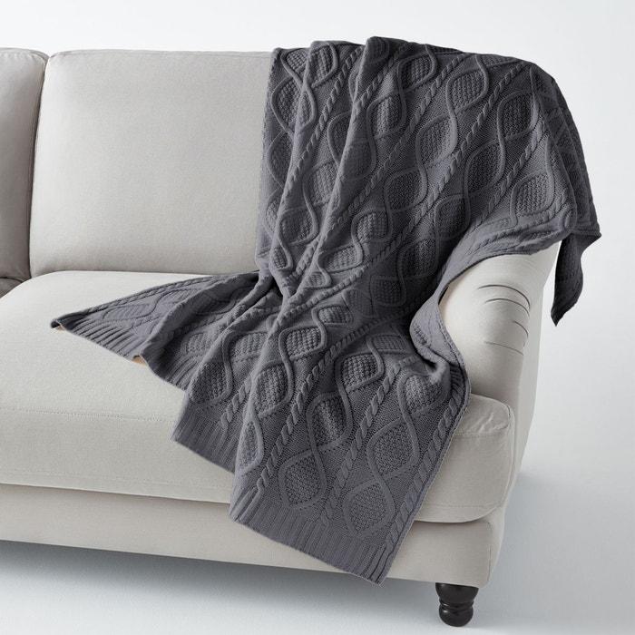 plaid tricot aker la redoute interieurs la redoute. Black Bedroom Furniture Sets. Home Design Ideas