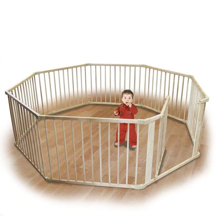 barri re de s curit et parc b b carr 8 c t s en bois bois clair monsieur bebe la. Black Bedroom Furniture Sets. Home Design Ideas