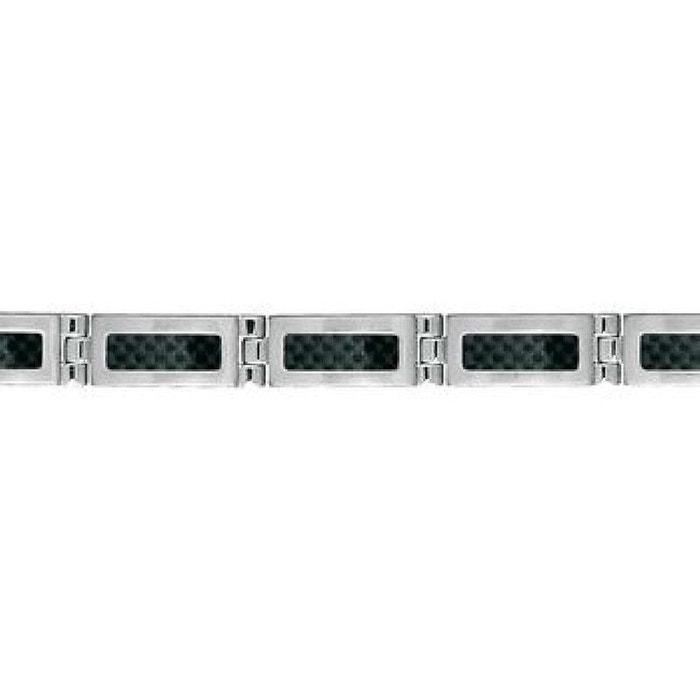 Bracelet homme longueur réglable: 18,5 à 20 cm cm maillons carbone noir acier inoxydable couleur unique So Chic Bijoux | La Redoute