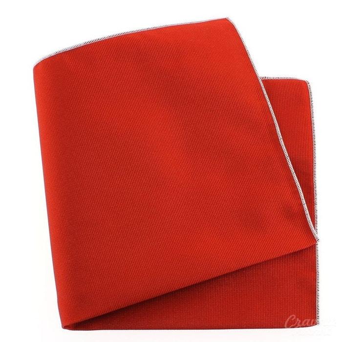 Pochette soie, rouge geraneo, ourlet blanc rouge Tony Et Paul | La Redoute