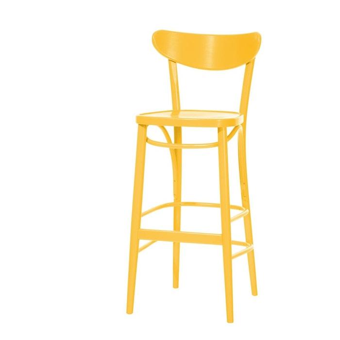 tabouret de bar avec dossier banana ton la redoute. Black Bedroom Furniture Sets. Home Design Ideas