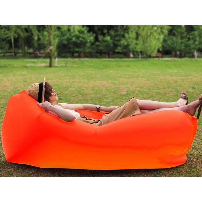 Fauteuil gonflable windbag xl orange couleur unique for Piscine autoportee la redoute