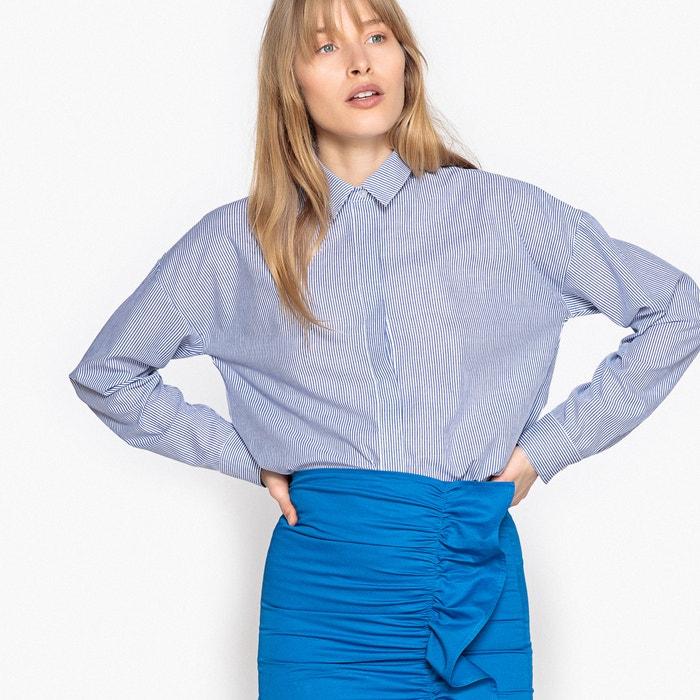 Camicia a righe, taglio ampio, maniche lunghe  La Redoute Collections image 0