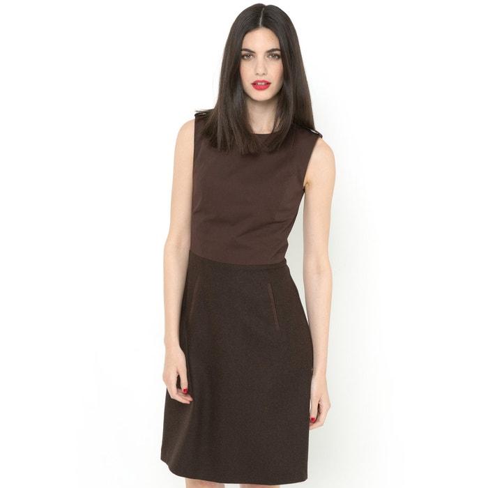 Imagen de Vestido sin mangas de 2 tejidos LAURA CLEMENT