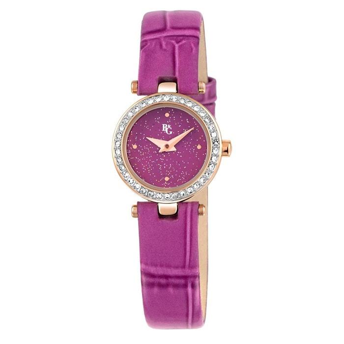 En Ligne À Vendre Montre en cuir violet violet B&G   La Redoute obtenir Marque Pas Cher Nouvelle Unisexe Livraison Gratuite Classique PZO1UwmPk