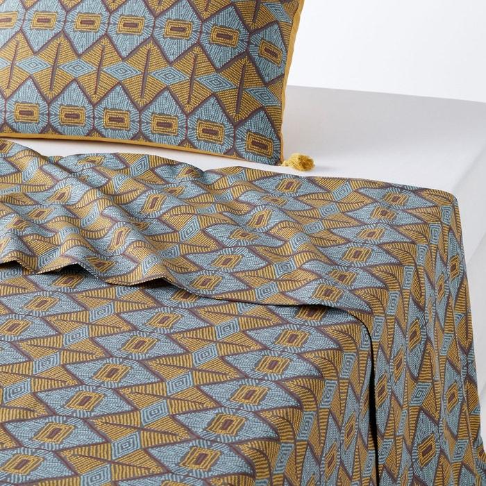 drap plat pur coton kouban imprim la redoute interieurs la redoute. Black Bedroom Furniture Sets. Home Design Ideas