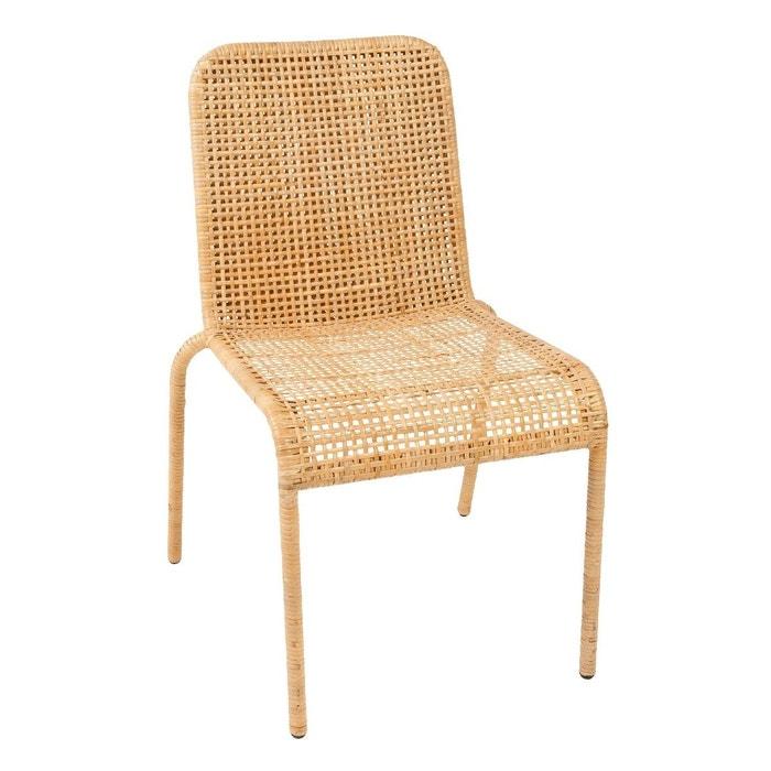 Chaise Rotin La Redoute : chaise en clisse de rotin trinidad marron clair kok la redoute ~ Nature-et-papiers.com Idées de Décoration