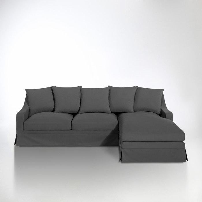 Image Canapé d'angle coton 1/2 natté, fixe confort excellence, Evender La Redoute Interieurs