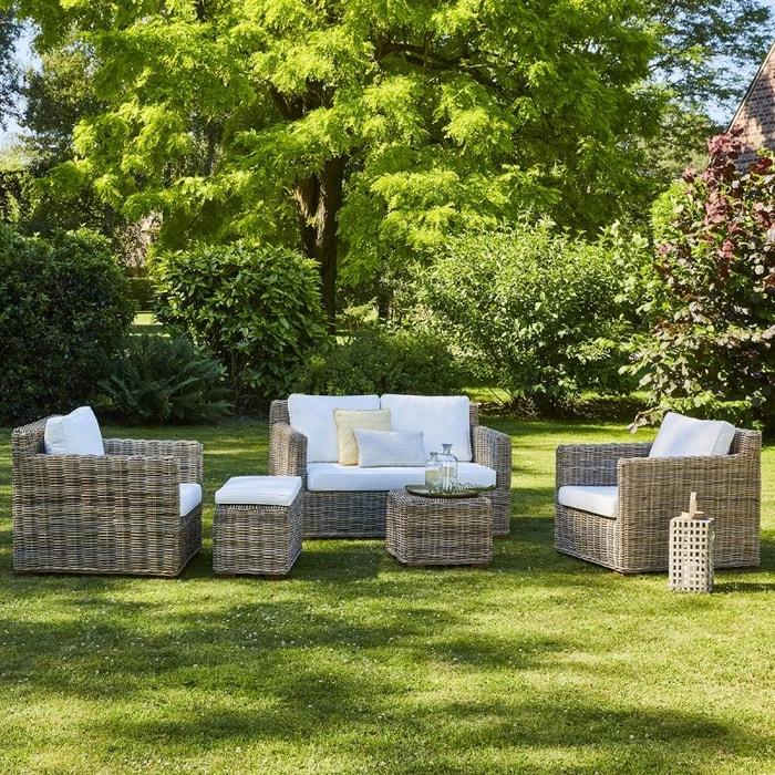 Salon de jardin en kubu naturel kubu Bois Dessus Bois Dessous | La ...