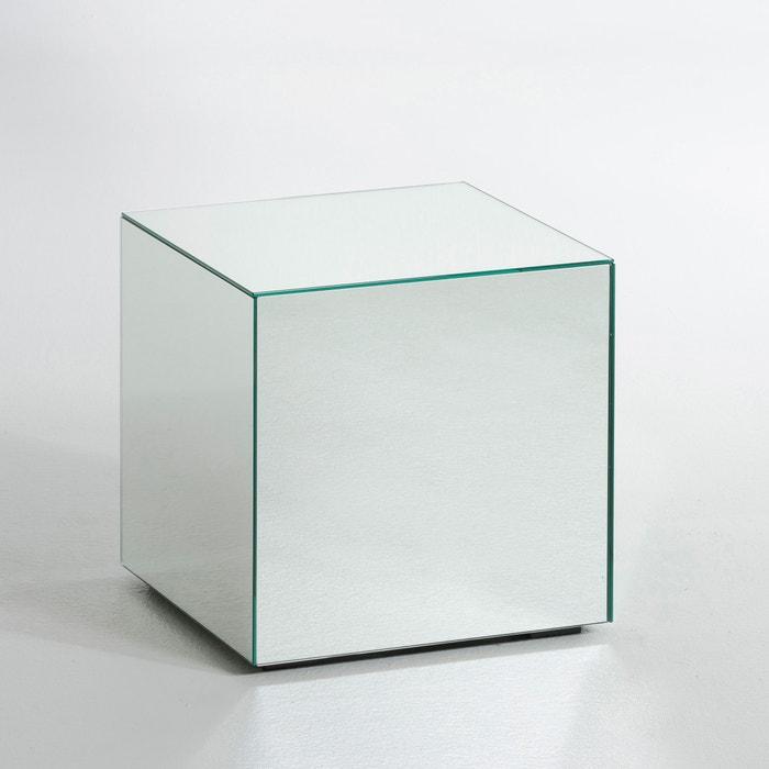 Table basse miroir lumir am pm transparent la redoute for Cube miroir habitat
