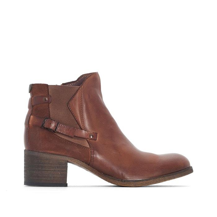 Boots cuir altela camel Kickers