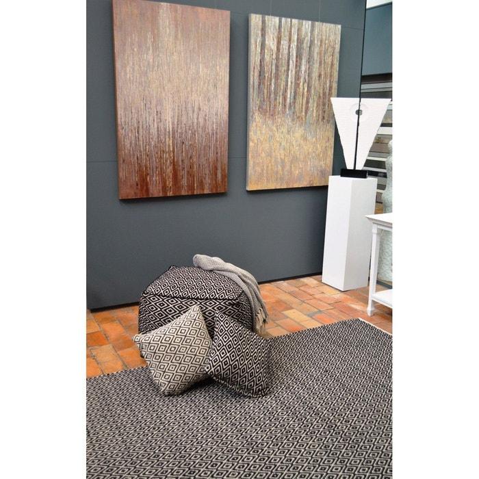 tapis ethnique en coton noir et blanc diamond noir. Black Bedroom Furniture Sets. Home Design Ideas