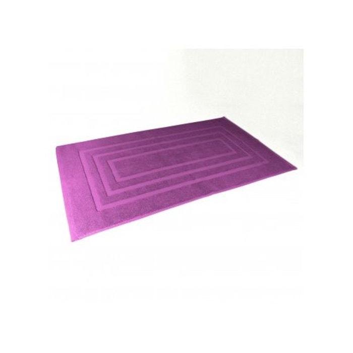 Tapis de bain 50x85 cm uni en eponge prune home bain la - La redoute tapis salle de bain ...