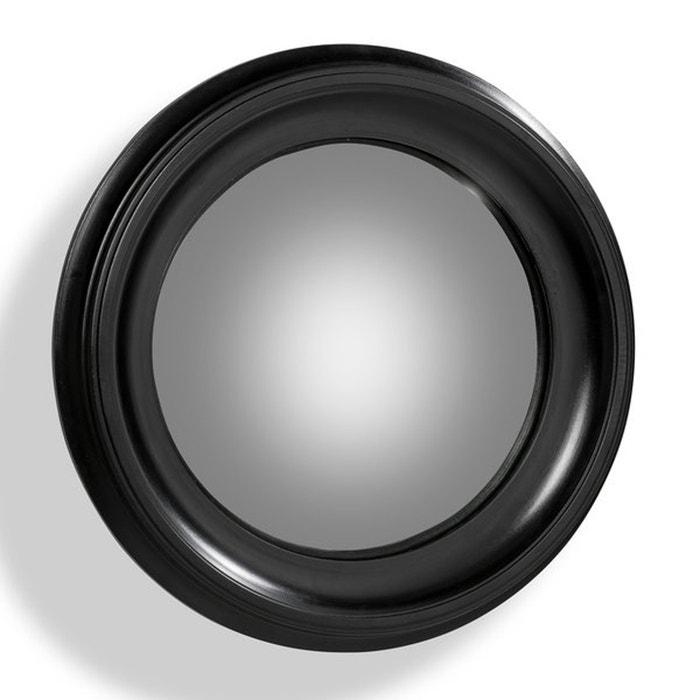 Espejo redondo habel con marco negro de 60 cm de di metro for Espejo redondo negro