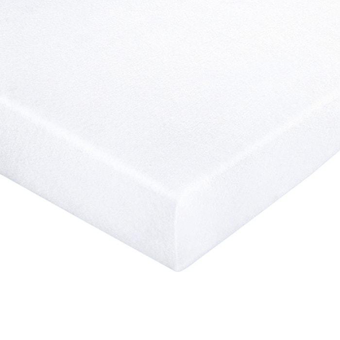 prot ge matelas jersey extensible enduit pvc imperm able blanc la redoute interieurs la redoute. Black Bedroom Furniture Sets. Home Design Ideas