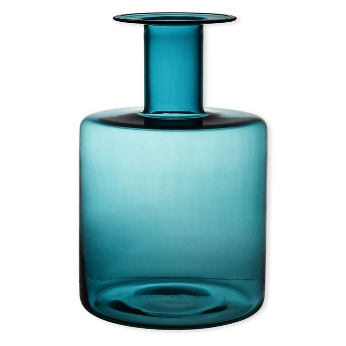 vase bleu turquoise en verre souffl bouche 40cm pacific. Black Bedroom Furniture Sets. Home Design Ideas