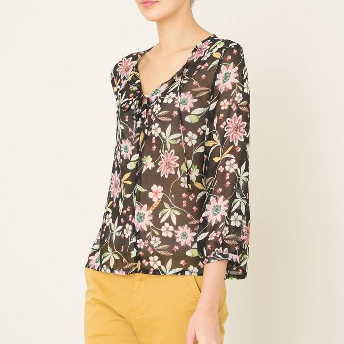 blouse erable imprim noir la brand boutique collection la redoute. Black Bedroom Furniture Sets. Home Design Ideas