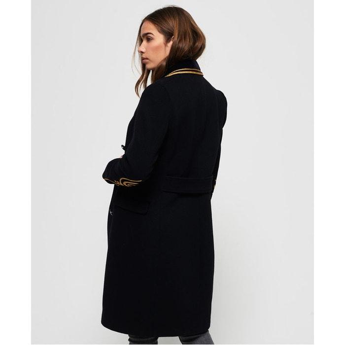 4bf758a6129cf Manteau long wool duchess noir Superdry   La Redoute