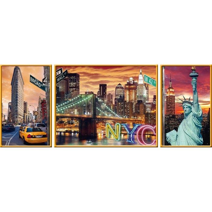 Puzzle 1000 pièces : Triptyque : New York en lumière RAVENSBURGER