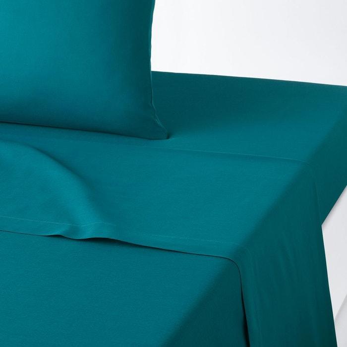 drap plat uni en coton scenario la redoute interieurs. Black Bedroom Furniture Sets. Home Design Ideas