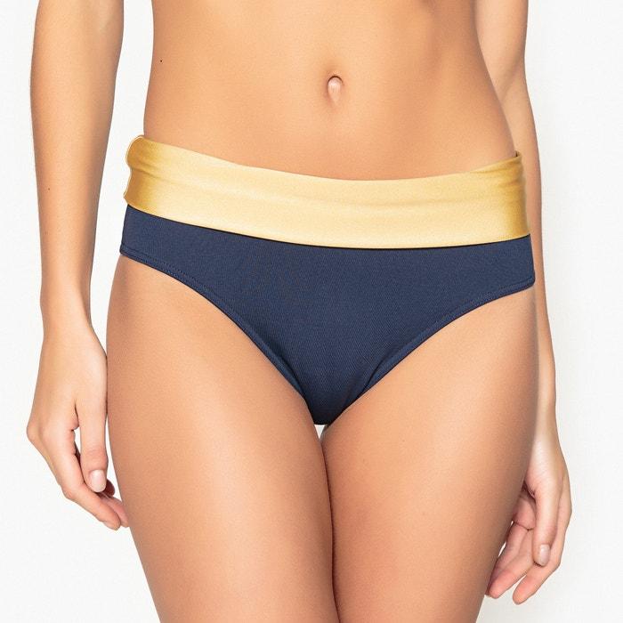 Culotte per bikini vita alta bicolore  La Redoute Collections image 0