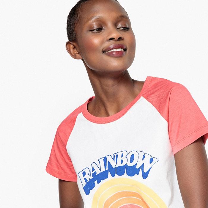 Camiseta manga bicolor corta y de Collections La Redoute rainbow estampado OnqwfxAZ