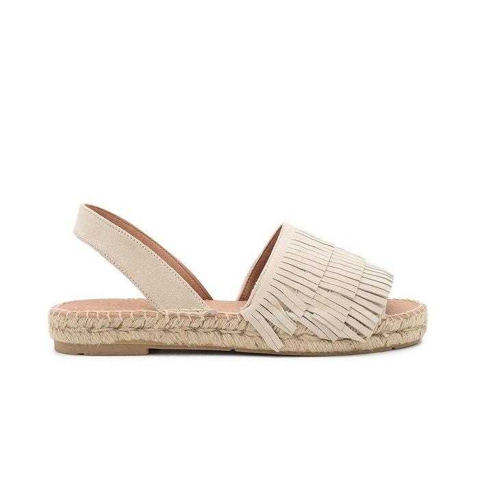 Sandale suede cris  beige Polka Shoes  La Redoute