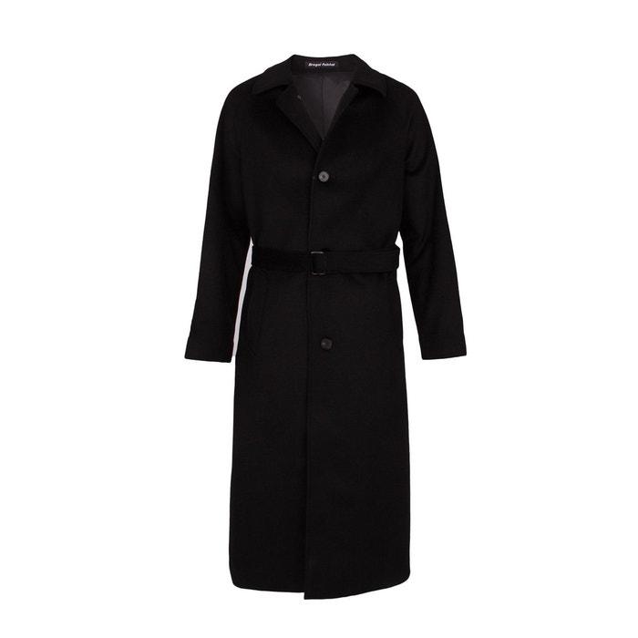 manteau long laine et cachemire noir noir bregal pelchat la redoute. Black Bedroom Furniture Sets. Home Design Ideas