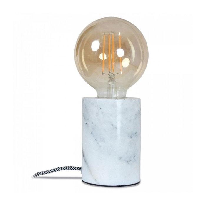 7 À Diamètre Hauteur Poser 5cm Lampe 10 5cm Ronde X Marbre Blanc 6fvYgby7