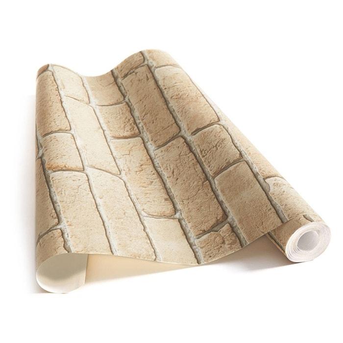 Papier Peint Briques Beige Cendrees Beige Koziel La Redoute