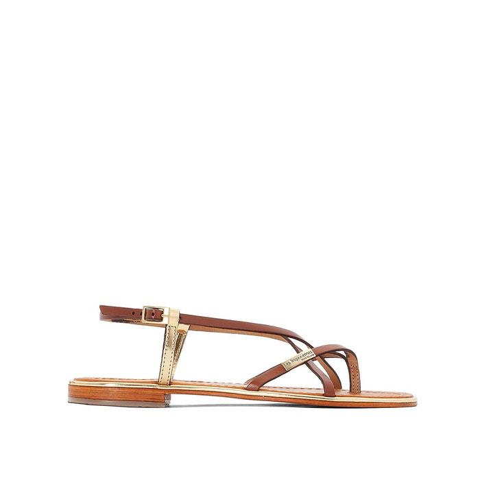 Sandales cuir monaco  tan/or Les Tropeziennes Par M Belarbi  La Redoute