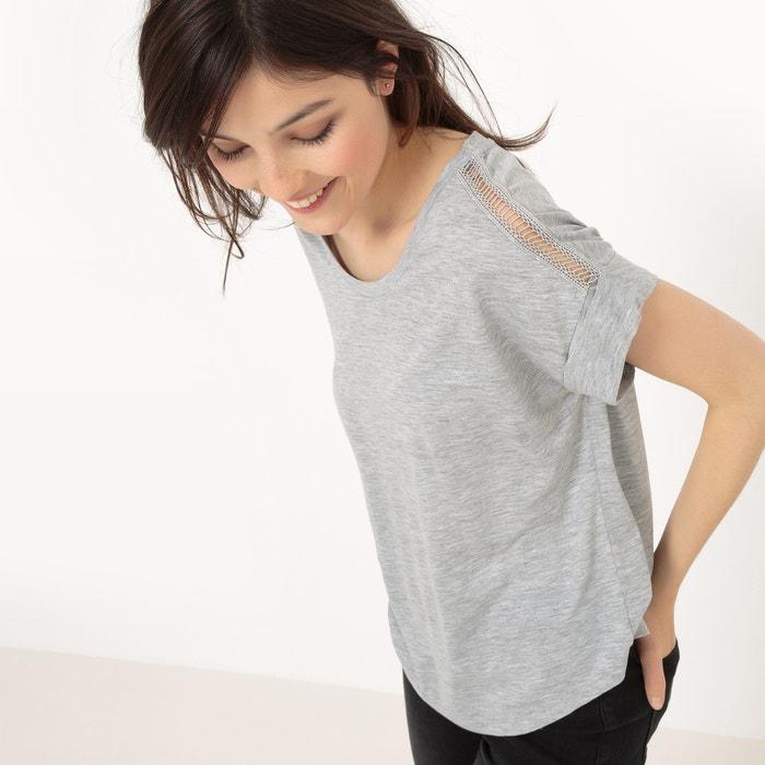 Image Loose Fit T-Shirt with Openwork Shoulders R essentiel