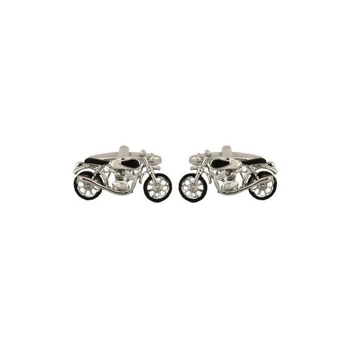 Bouton de manchette, bikers métal argenté Cravate Avenue Signature | La Redoute