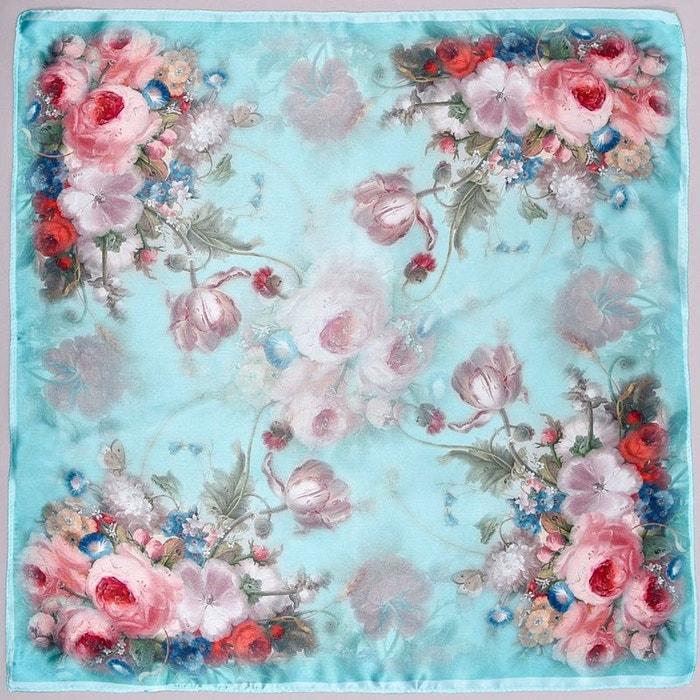 carr de soie piccolo bellisima bleu bleu allee du foulard la redoute. Black Bedroom Furniture Sets. Home Design Ideas