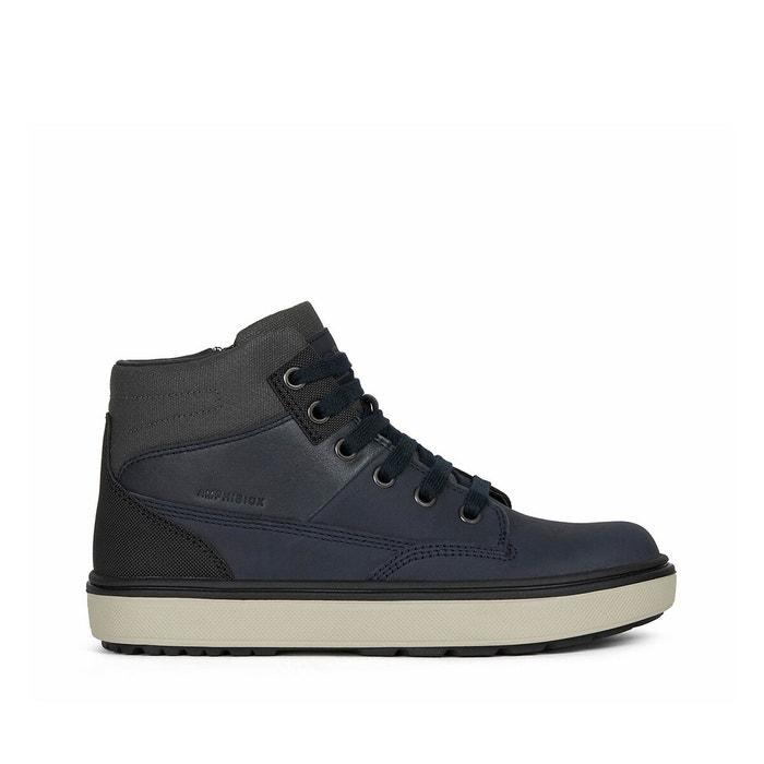 uno Brillante Londres  Kids mattias abx trainers in leather blue/grey Geox | La Redoute