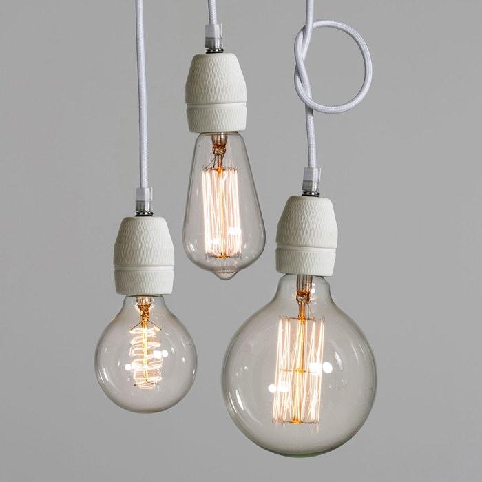 suspension douille porcelaine luce blanc am pm la redoute. Black Bedroom Furniture Sets. Home Design Ideas