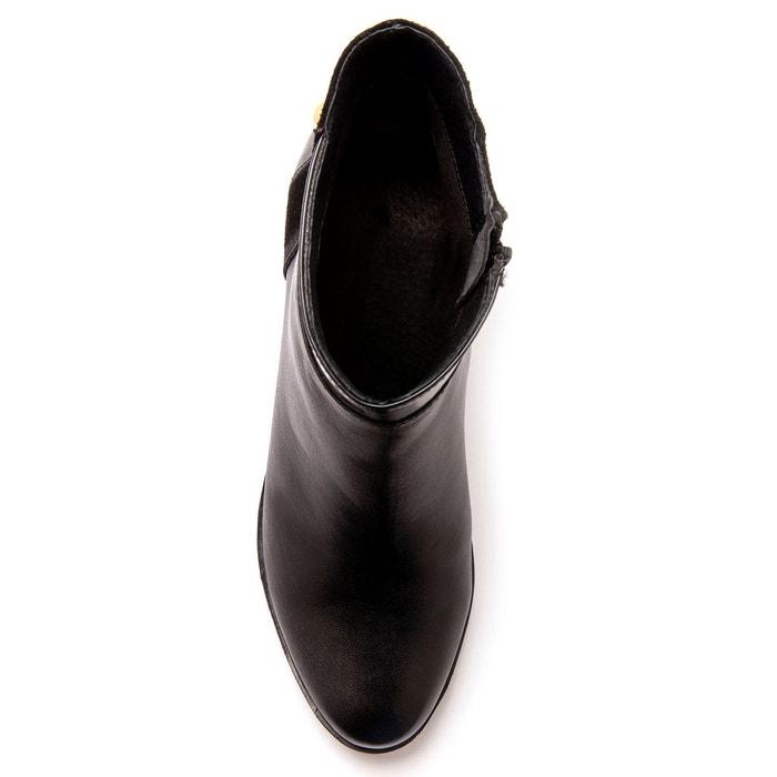 Boots confort SECRETS MODE zippés largeur DE qvPETv