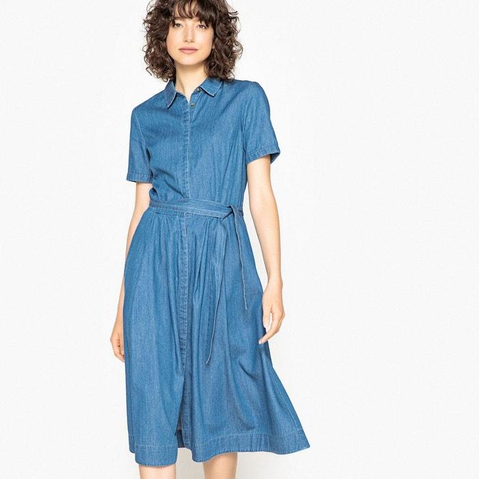 Robe en jean denim léger, pur coton bleu stone La Redoute Collections   La  Redoute 066f99b2b3f