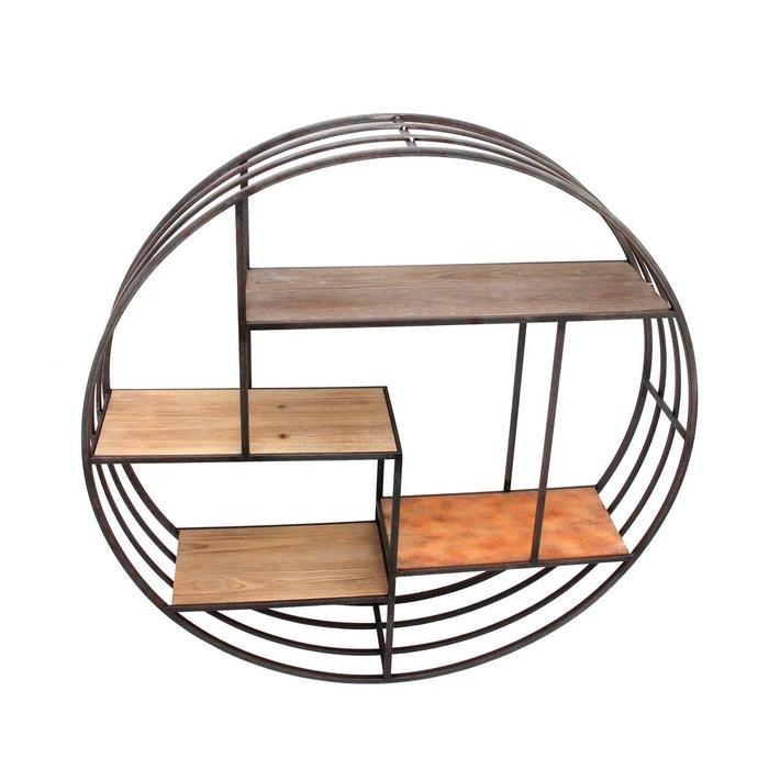 etag re ronde mix bois m tal noir emde premium la redoute. Black Bedroom Furniture Sets. Home Design Ideas