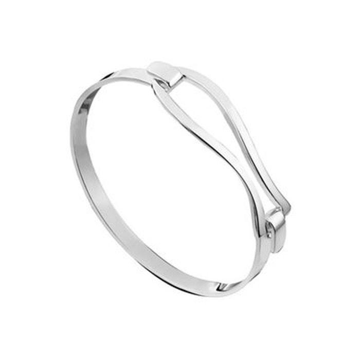 Bracelet jonc les intemporels en argent 925, 18.7g, ø60mm argent Clio Blue | La Redoute