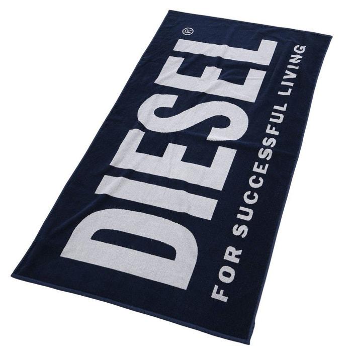 serviette de plage avec logo diesel helleri bleu 170 x 100 cm bleu turquoise diesel la redoute. Black Bedroom Furniture Sets. Home Design Ideas