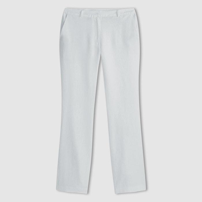 afbeelding Rechte broek in linnen La Redoute Collections