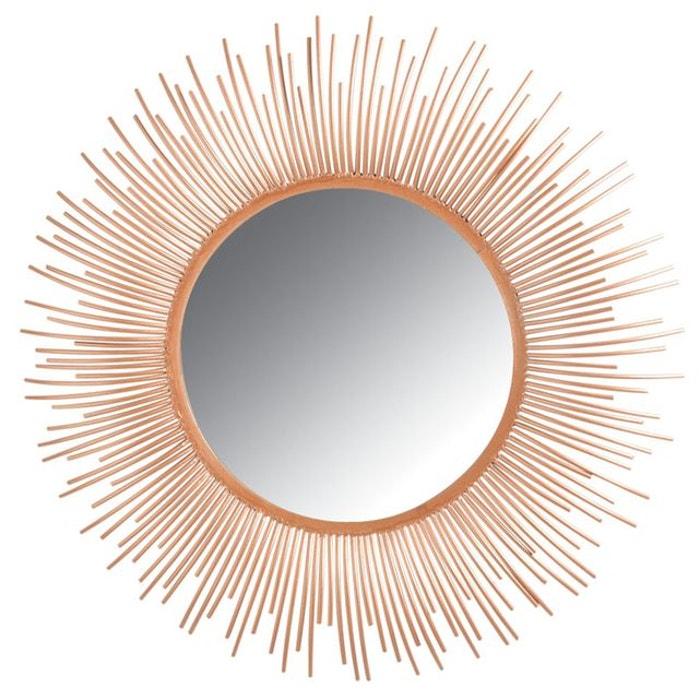 miroir rond en m tal cuivr dor aubry gaspard la redoute. Black Bedroom Furniture Sets. Home Design Ideas