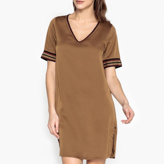 Short-Sleeved V-Neck Dress  MAISON SCOTCH image 0