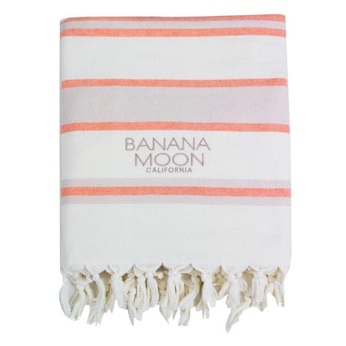 Fouta Marbella Nausori Orange et Beige BANANA MOON