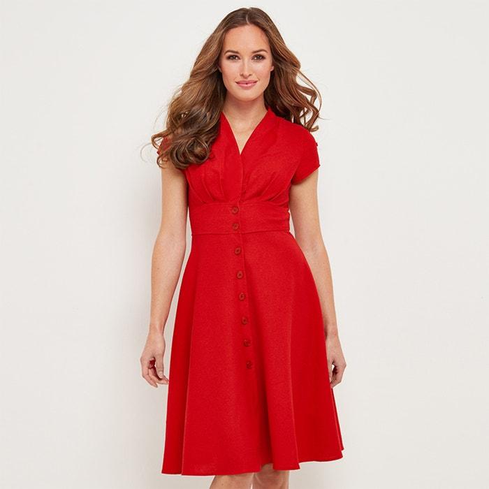 Платье-миди, 3/4, расклешенное, однотонное  JOE BROWNS image 0