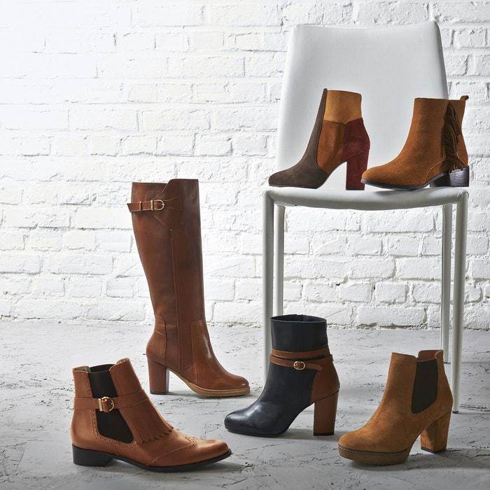 Boots croûte de cuir pied large 38-45 Castaluna